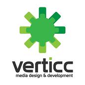 Veticc Media Design and Development Logo in green
